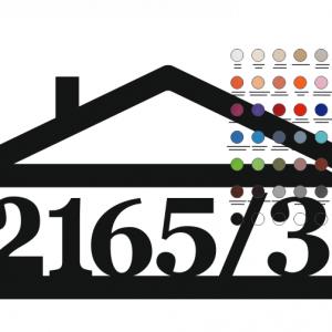 súpisné číslo na dom v tvare domčeka - 7 číslic - farba biela