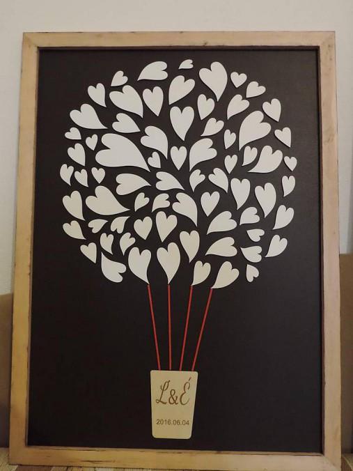 Svadobná kniha hostí - balón v tvare obrazu