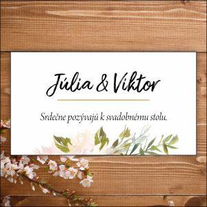 Svadobné pozvánky- zelené listy