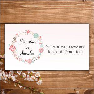 Svadobné pozvánky- bledo ružové