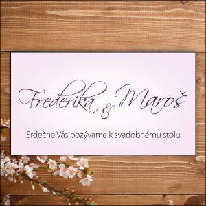 Svadobné pozvánky-bledo fialové
