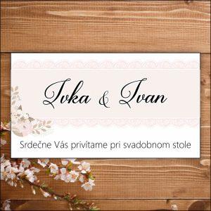 Svadobné pozvánky-bielo ružové s čipkou