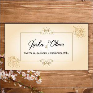 Svadobné pozvánky-zlaté ruže