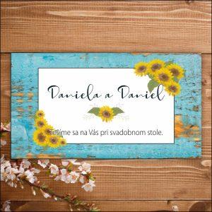 Svadobné pozvánky-slnečnice