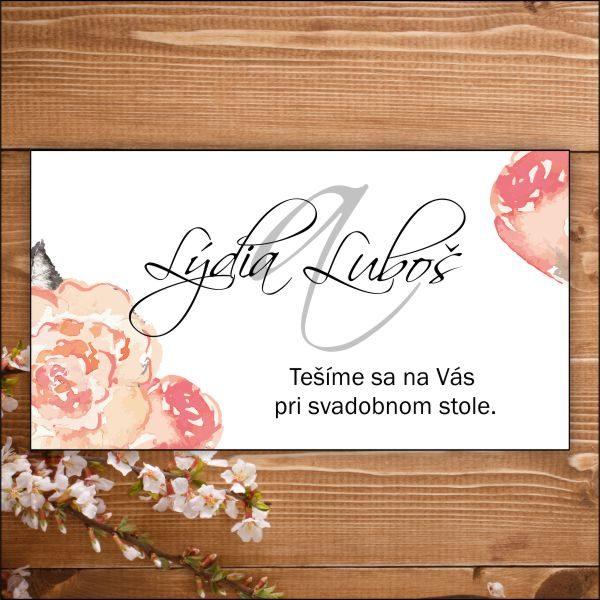 Svadobné pozvánky-rám z ruží