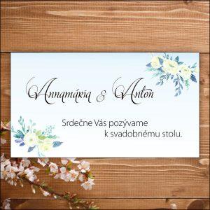 Svadobné pozvánky - nevesta - bledo modrá