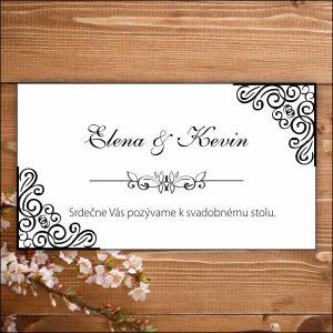 Svadobné pozvánky- čierno biele