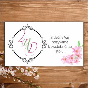 Svadobné pozvánky- ružové ľalie