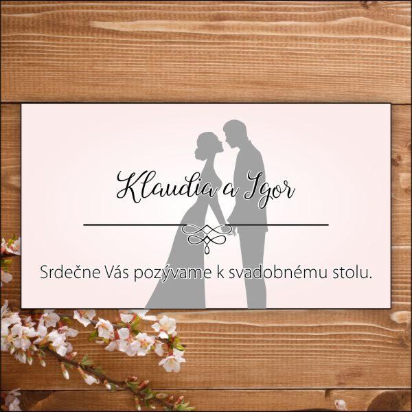 Svadobné pozvánky- sivo ružové