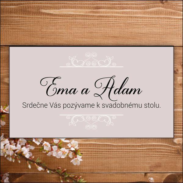 Svadobné pozvánky- biele ornamenty