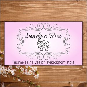 Svadobné pozvánky- ružové nevesta ženích