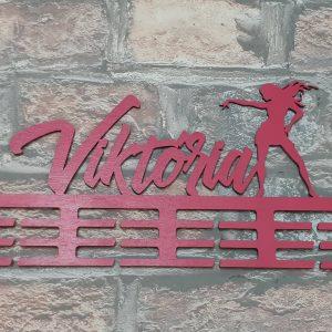 Vešiak na medaile Moderný tanec červená Viktoria