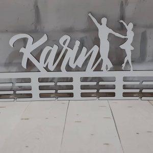 Vešiak na medaile Spoločenský tanec Biela Karin