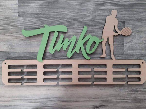 Vešiak na medaile Tenista Natur Zelená Timko