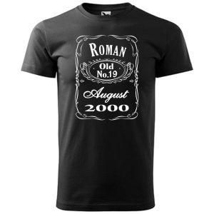 Tričko s designom Jack Daniels Whiskey