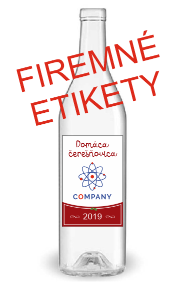 Etikety na domácu pálenku, s firemným logom 0,5l