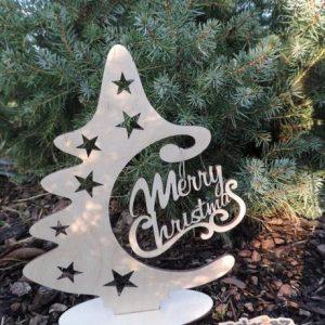 Vianočný stromček s Merry Christmas