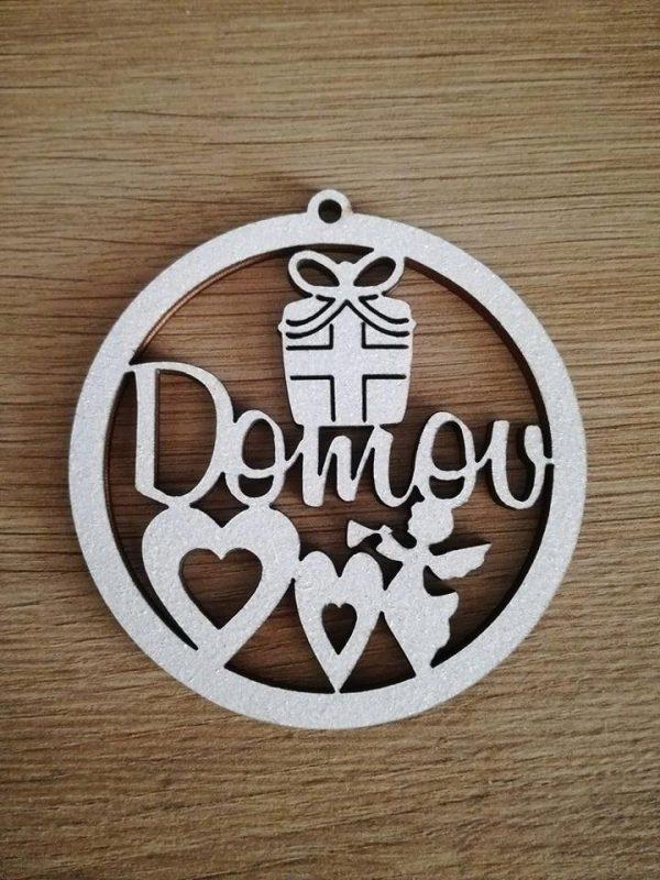 Vianočné ozdoby s menom, pesonalizovaný darček, biele, domov a anjelik