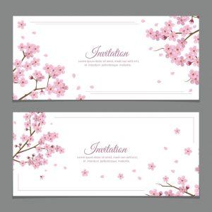 pozvánka na oslavu sakura flowers