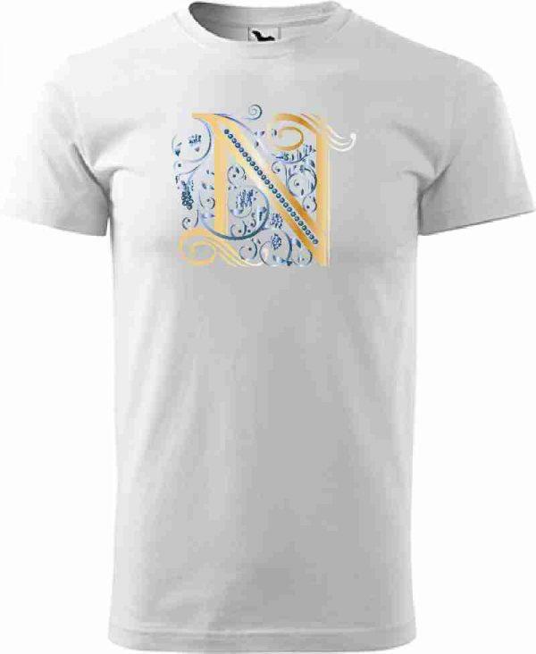 Pánske biele tričko s monogramom - luxury