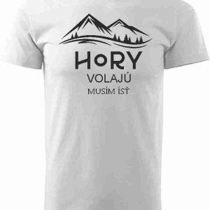 Hory volajú biele pánske tričko